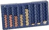 PEARL Münzzählbrett: Euro-Münzbrett für alle Euro- und Cent-Münzen (Münzsortierer für Euro und Cent)