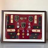 ZHXY Medaillenrahmen Orden Ehrenzeichen Medaillenhalter,Medaillen-Display Vitrine mit Holzrahmen,Medaillenrahmen für oder Laufmedaillen Kriegsmedaille Holz Vitrine für Orden Ehrenzeichen Holz Vitrine